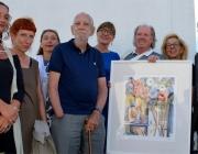 """Afra-Fest mit Lithographie """"Anemonen"""" von Elmar Kopp"""