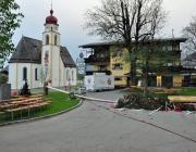 Maifest 2013 - Anschlag auf den Mieminger Maibaum