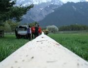 Maibaumaufstellen 2010 in Obermieming