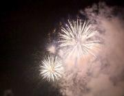 Neujahr 2016 - Traditionelles Feuerwerk über Mieming