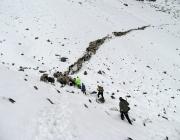 Schafschoad Seeben Alm 2013 – Grünsteinscharte im Schnee