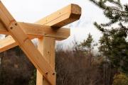 Untere Stöttlbrücke erneuert – Mit Wetterschutz-Dach aus Lärchenholz
