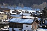 Sonnenwintertag in Mieming - viele waren draußen, denn das Wetter wird schlechter