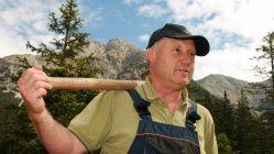 Auf der Feldernalm werden die Winterschäden beseitigt, Foto: Knut Kuckel