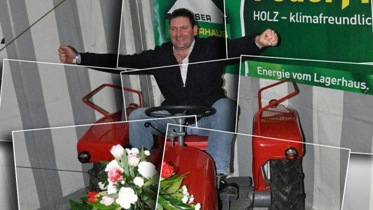 """Günter """"Faxe"""" Spielmann aus Obermieming ist neuer Besitzer eines """"Lindner BF 14"""". Foto: Michael Sonnweber"""