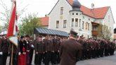 Die Feuerwehr Mieming feiert ihren Schutzpatron, den Hl. Florian und ehrt verdiente Mitglieder. Foto: Knut Kuckel