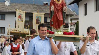Herz-Jesu-Prozession im Mieminger Ortsteil Barwies, Foto: Knut Kuckel