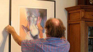 """""""Drei Frauen"""" - Lithographie von Jos Pirkner, Foto: Knut Kuckel"""