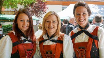 Fronleichnam 2016 in Untermieming - Marketenderinnen der Musikkapelle, Foto: Andreas Fischer