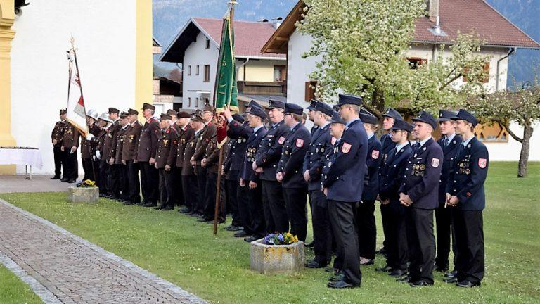 Florianifeier 2016 – Gäste waren die Feuerwehrleute aus Murnau, Foto: Feuerwehr Mieming