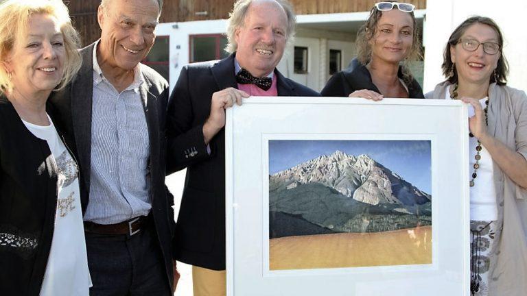 Die 13. Afra-Benefiz-Lithographie ist der Hohen Munde gewidmet, Fotos: Fridolin Leitner, Peter Kloc, Maximilian und Clemens Stecher