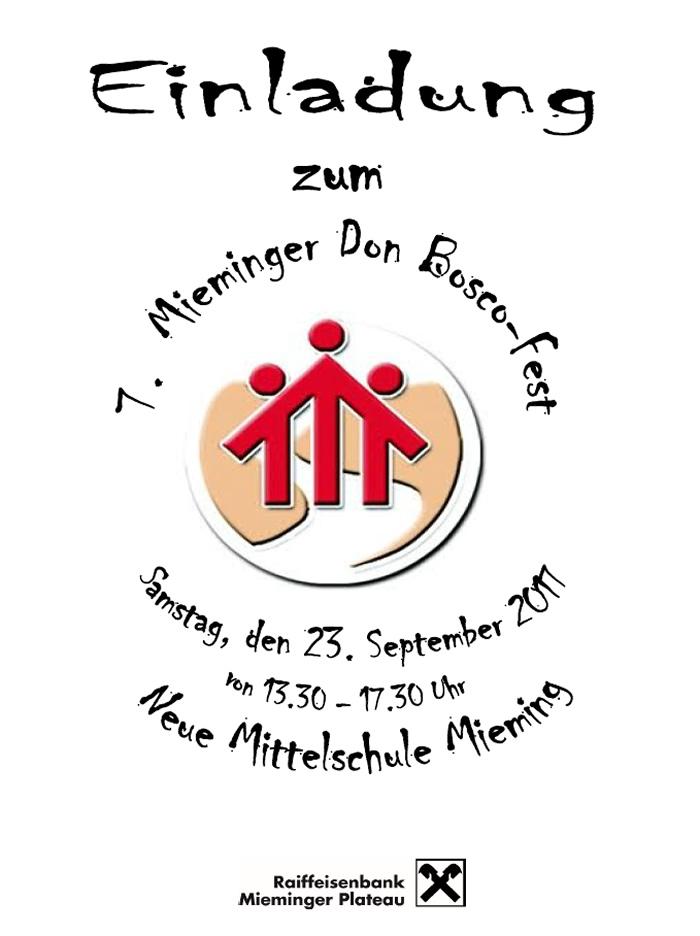 Mieminger Don Bosco-Fest – NMS-Mieming und Gemeindeplatz, Samstag, 23. September 2017, NMS-Mieming, Gemeinde- und Sportplatz