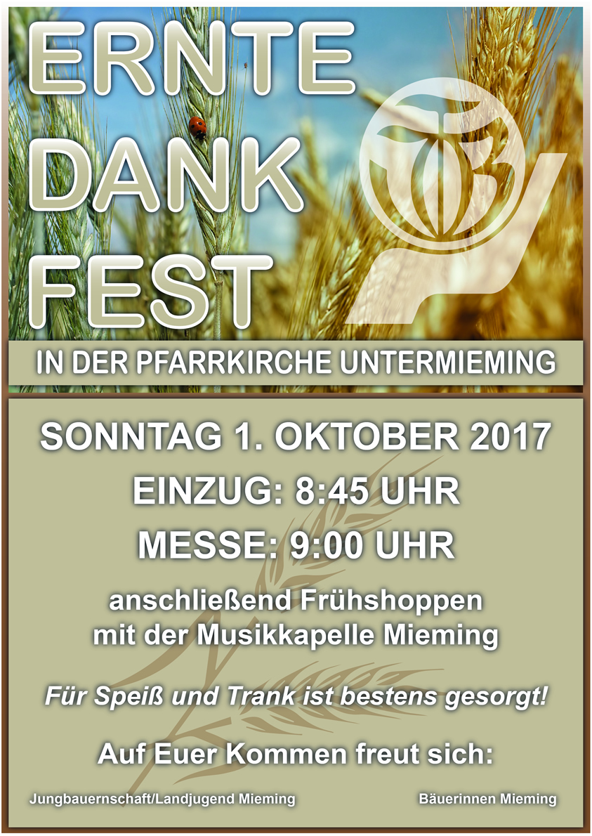 Erntedankfest am 1. Oktober 2017 in Untermieming, Foto: Jungbauernschaft/Landjugend Mieming
