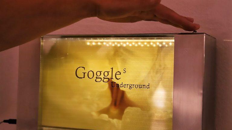 """Installation """"Goggle's Underground"""" von Reinhold Neururer, Foto: Knut Kuckel"""