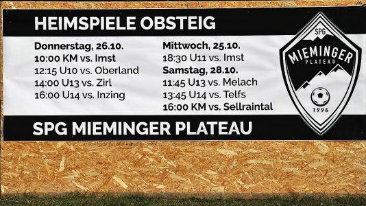 SPG Mieminger Plateau - Heimspiele im Herbst 2017