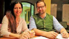 Maria Thurnwalder und Mathias Fink stellten im Gespräch mit Mieming.online das neue Zeitfenster-Programm vor. Foto: Knut Kuckel