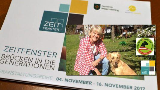 Zeitfenster 2017 - Mensch und Tier - Therapiehunde, Foto: Mieming.online