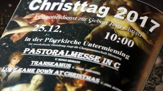 Weihnachtsmesse am Christtag in Untermieming. Foto: Mieming.online