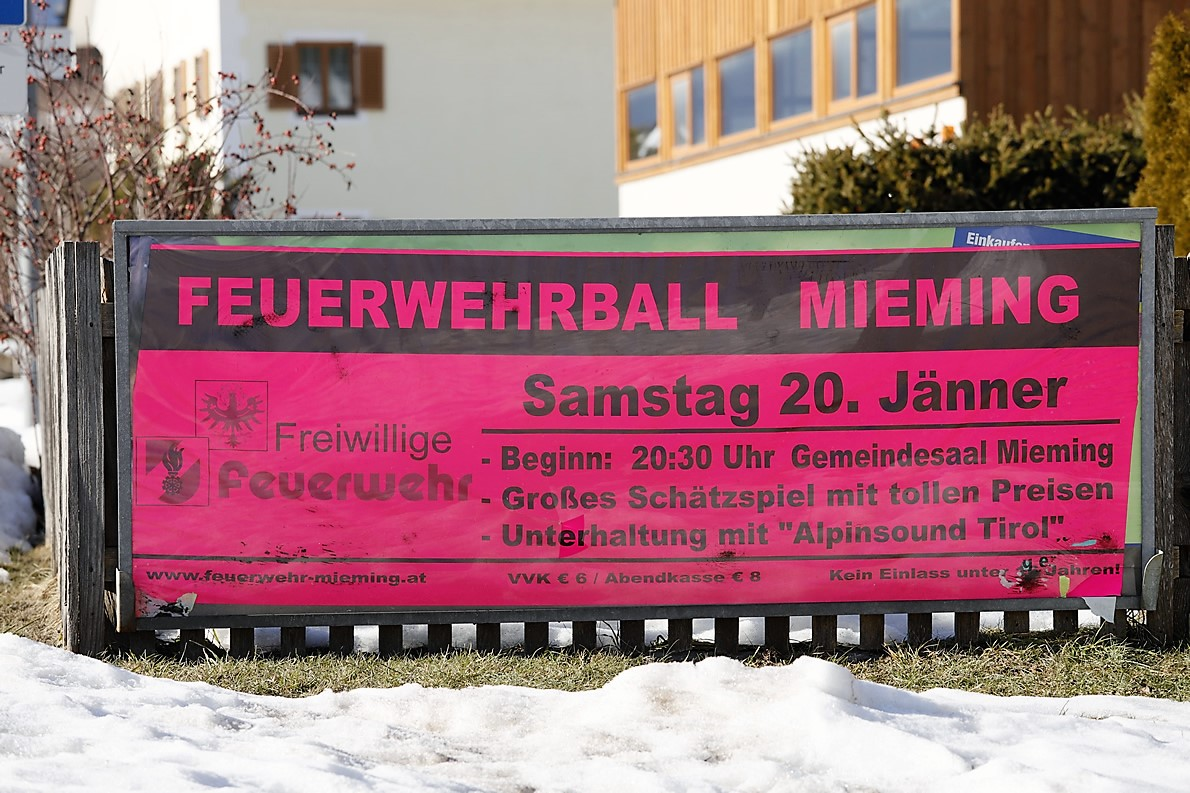 "Feuerwehrball 2018 in Mieming mit ""Alpinsound Tirol"", Foto: Mieming.online"