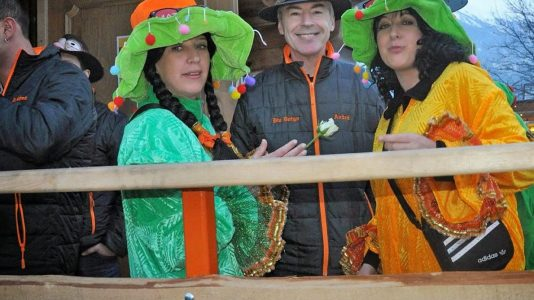 Fasnacht in Mieming 2018, Sportplatz in Obermieming. Foto: Mieming.online
