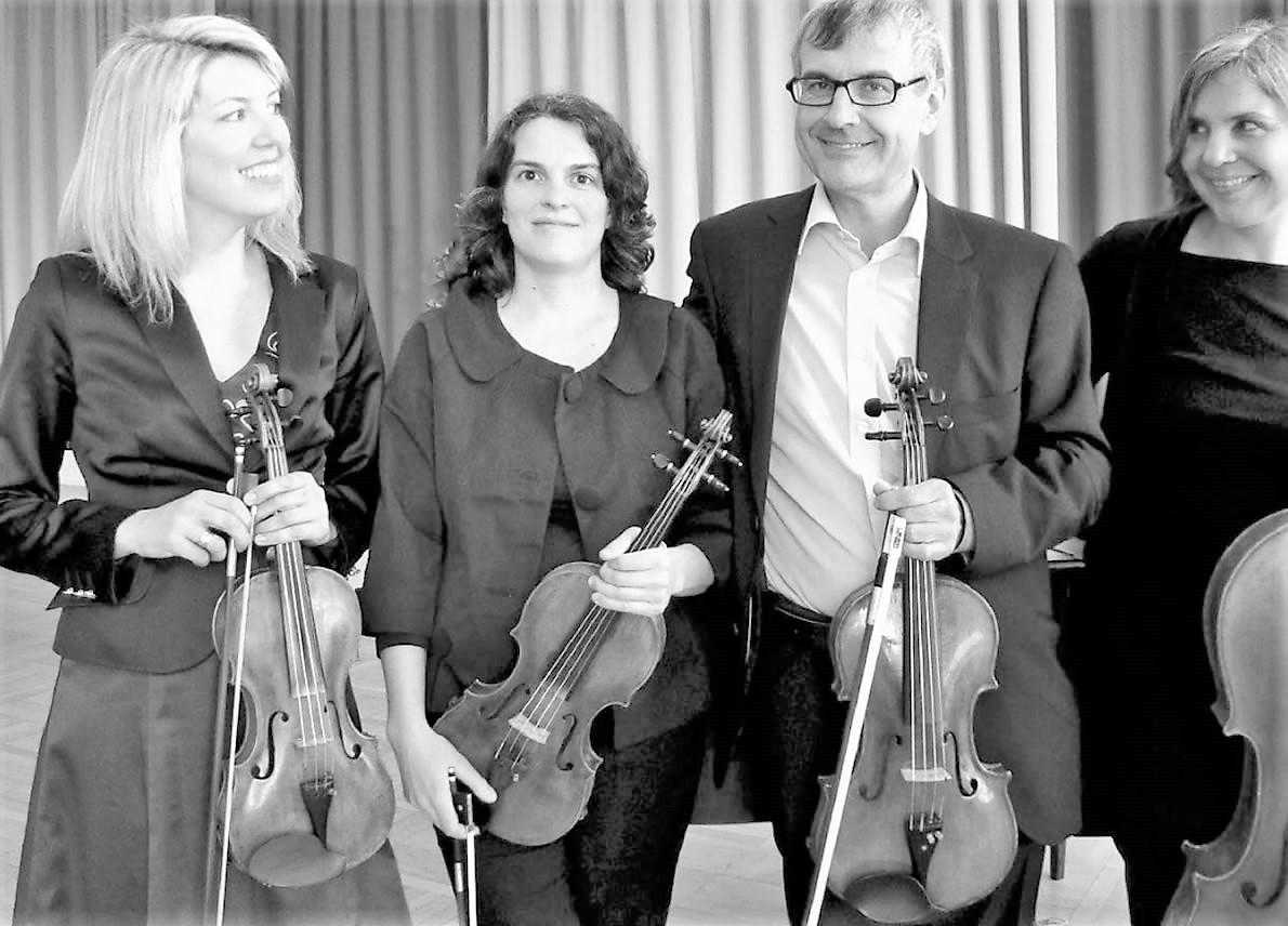 """Klingende Kirchen - Streichquartett """"quartett.kultur.tirol"""" in der Pfarrkirche Wildermieming, Foto: quartett.kultur.tirol"""
