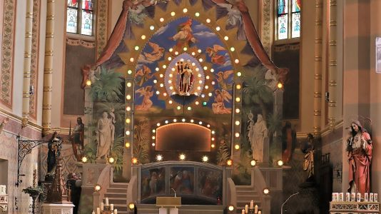 Heilige Grab, Pfarrkirche Untermieming. Foto: Knut Kuckel