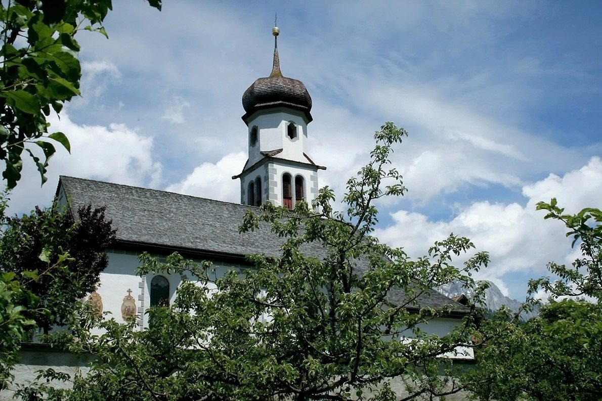 St. Georgskirche, Obermieming. Foto: Knut Kuckel/Mieming.online