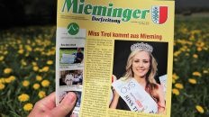 Mieminger Dorfzeitung, 26. April 2018, Foto: Mieming.online