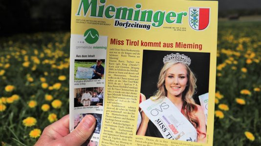 Mieminger Dorfzeitung, 26. April 2018, Foto: Mieming.online