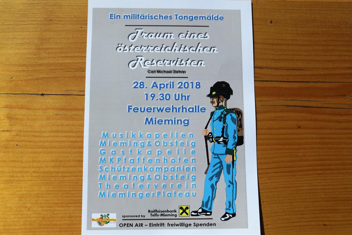 Traum eines österreichischen Reservisten - Ein militärisches Tongemälde, Foto: Mieming.online