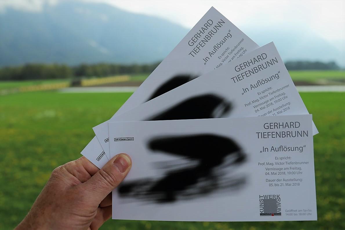 """Gerhard Tiefenbrunn - Ausstellung """"In Auflösung"""" im Kunst-Werk-Raum, Foto: Knut Kuckel/Mieming.online"""