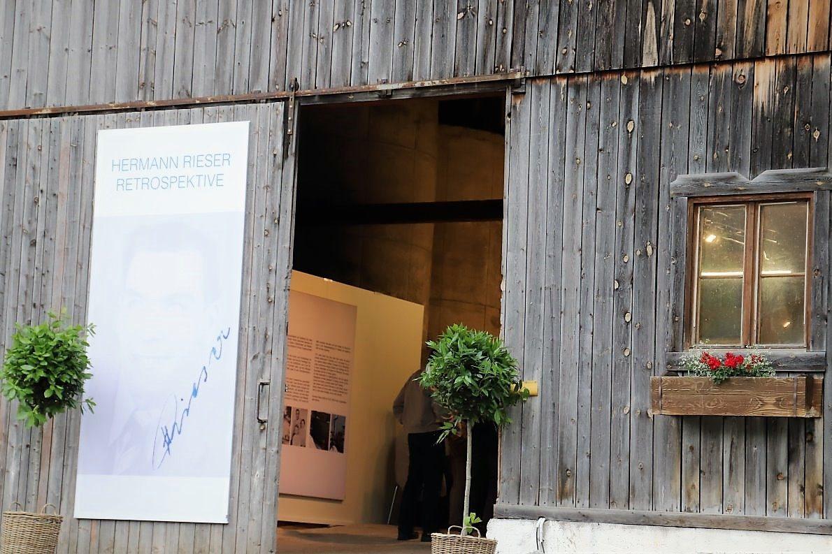 """Hermann Rieser """"Retrospektive"""" - Ausstellung im Stadel Schneggenhausen Obsteig, Foto: Knut Kuckel"""