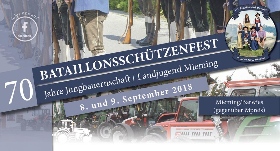 70. Bataillonsschützenfest und 70 Jahre Jungbauernschaft/Landjugend. Foto: Elias Kapeller/JBL Mieming