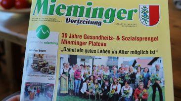 Mieminger Dorfzeitung, Ausgabe 19. Oktober 2017, Foto: Mieming.online