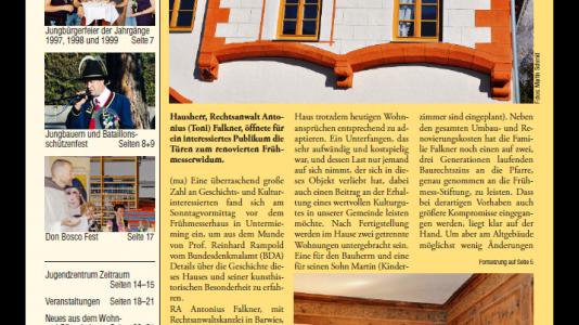 Dorfzeitung Oktober 2018