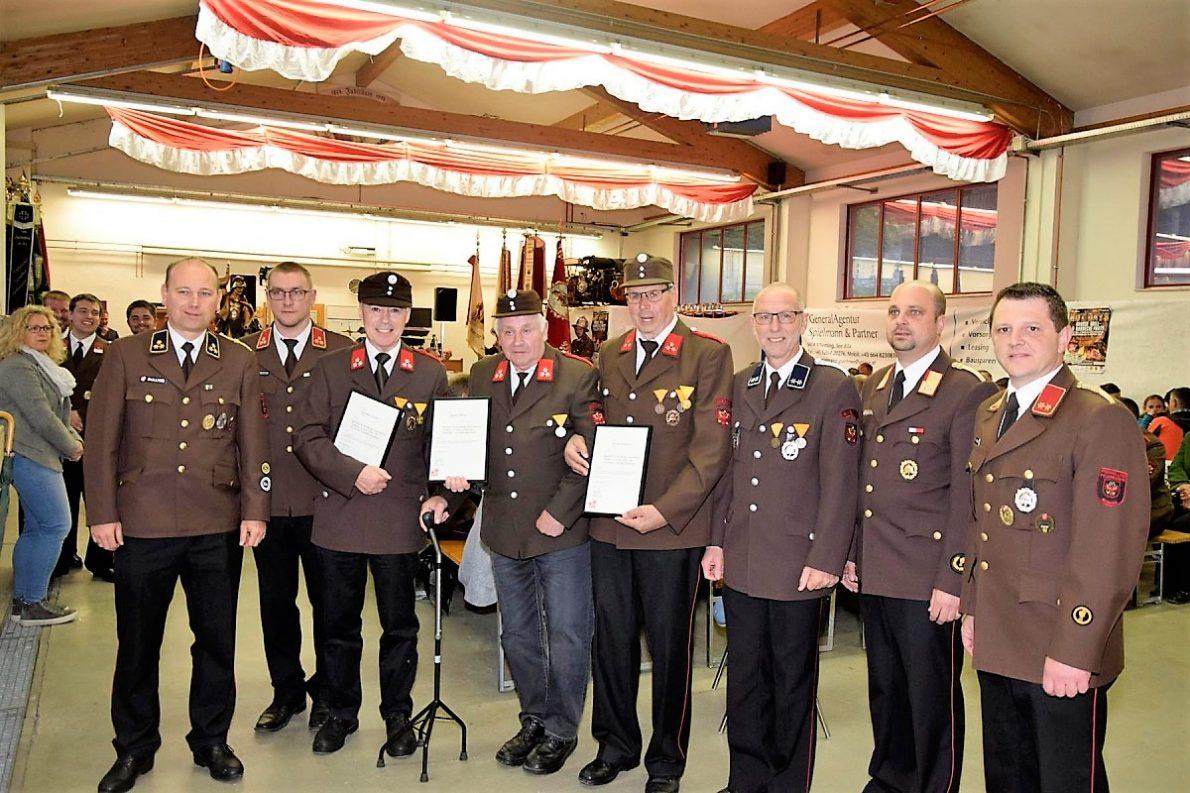 50 Jahre bei der Feuerwehr Mieming Foto: Markus Wörz