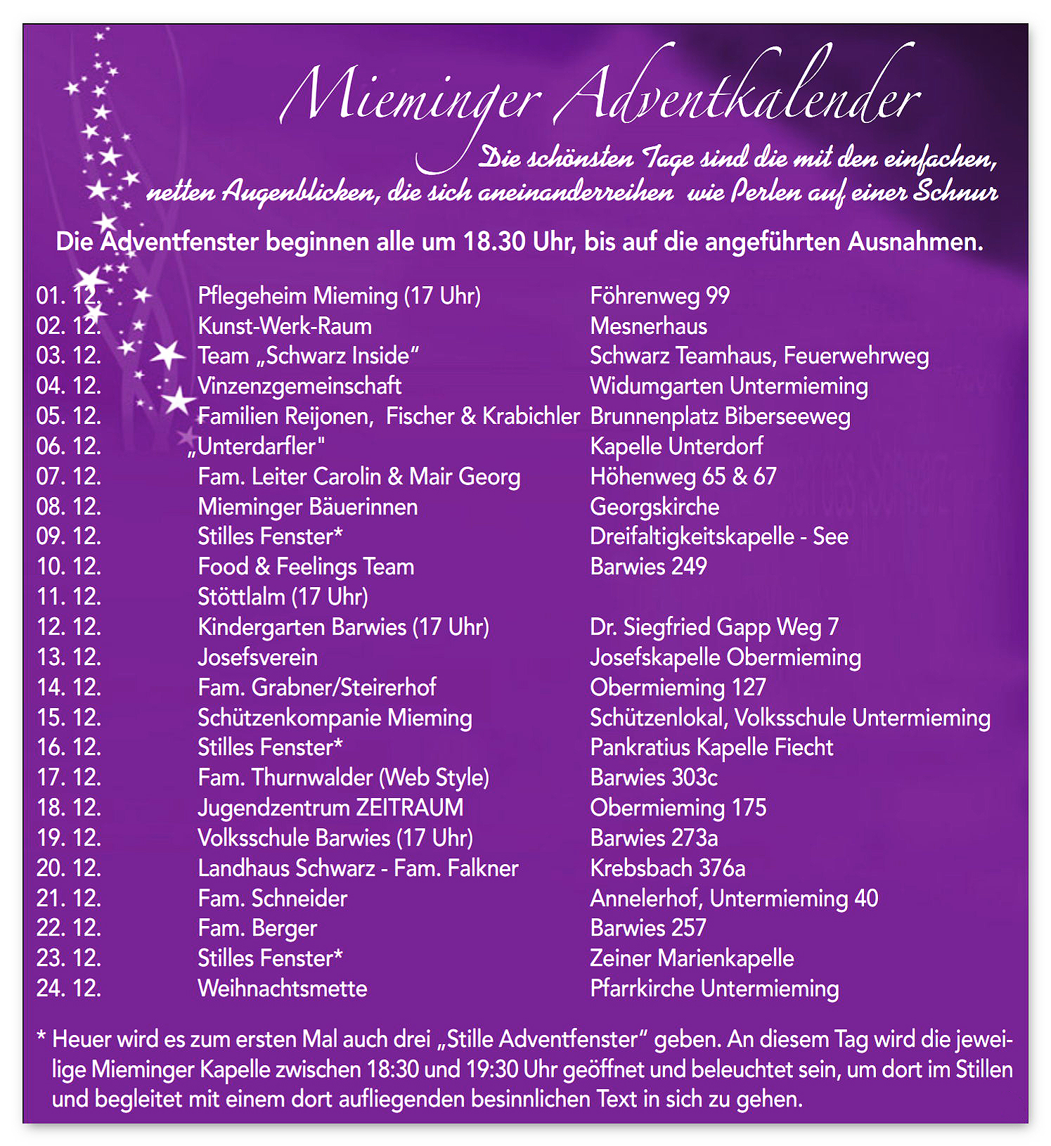 Mieminger Adventkalender 2019