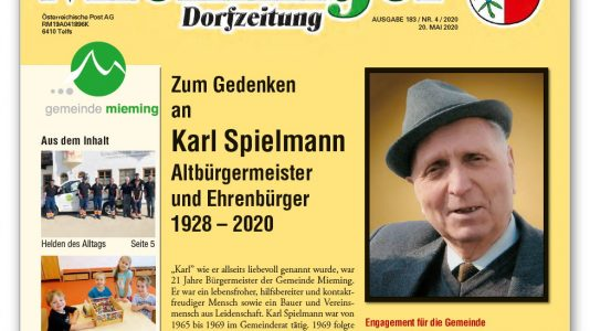 Mieminger Dorfzeitung - Mai 2020